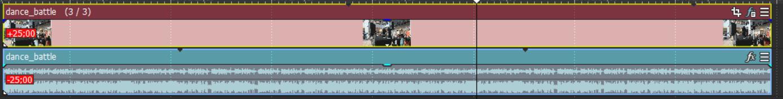 31.短いデュレーションのメディアをテイクとして挿入後